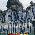 Kayaking Past Cliffs by Ron Dahlquist - Printscapes