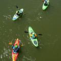 Kayaks Aerial by Britt Runyon
