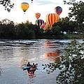 Kayaks And Balloons by Bill Tomsa