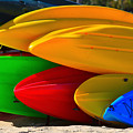 Kayaks On The Beach by James BO Insogna