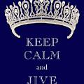 Keep Calm And Jive Deep Blue Diamond Tiara by Kathy Anselmo