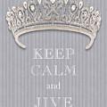 Keep Calm And Jive Diamond Tiara Gray Flannel by Kathy Anselmo