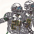 Kenjon Barner And Marcus Mariota by Jeremiah Colley