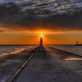 Kenosha Lighthouse Beacon by Dale Kauzlaric