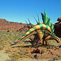 Kentrosaurus In The Desert by Frank Wilson