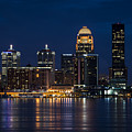 Louisville At Night by Andrea Silies