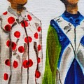 Kentucky Derby Jockey Mannequins by Mary Capriole