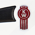 Kenworth Tractor Red White Close 021418 by Rospotte Photography