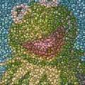 Kermit Mt. Dew Bottle Cap Mosaic by Paul Van Scott