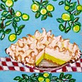 Key Lime Pie Mini Painting by Lois    Rivera