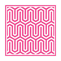 Key Maze With Border In French Pink by Custom Home Fashions