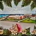 Key West High School From The 60's Era by Lois Rivera