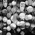 Key West Lobster Buoys Black And White by John Stephens
