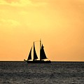Key West Sunset Sail by Bill Cannon