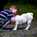 Kid And His Dog by Queso Espinosa