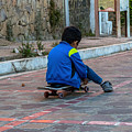 Kid Skateboarding by Totto Ponce
