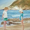 Kids Collecting Marine Shells by Angeles M Pomata