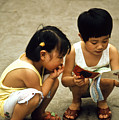 Kids In China 1986 by Heiko Koehrer-Wagner