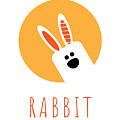 Kids Rabbit Poster by Chris Campbell