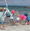Kid's Yoga Class On Wingaersheek Beach by Melissa Abbott