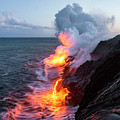 Kilauea Volcano Lava Flow Sea Entry 3- The Big Island Hawaii by Brian Harig
