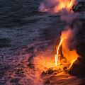 Kilauea Volcano Lava Flow Sea Entry 6 - The Big Island Hawaii by Brian Harig