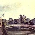 Kilkenny Castle On The Nore River. by Val Byrne