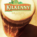 Kilkenny Draught Irish Beer Rusty Tin Sign by Jorgo Photography - Wall Art Gallery