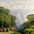 Kinchinjunga From Darjeeling by Edward Lear