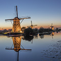 Kinderdijk In The Blue Hour by Christian Tuk