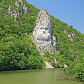 King Decebal, Rock Sculpture by Cosmin-Constantin Sava