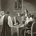King James II Of England Facing Bishops by Vintage Design Pics
