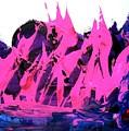 King Kong Attacks Phantom Pink Sail Boat by Bruce Combs - REACH BEYOND