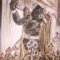 King Kong - Flashbulbs Anger Kong by Jonathan Morrill