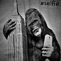 King Kong Selfie B W  by Rob Hans