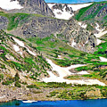 King Lake At Rollins Pass T by Robert Meyers-Lussier
