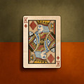 King Of Diamonds In Wood by YoPedro