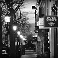 King Street At Night - Old Town Alexandria by James DeFazio