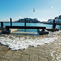 King Tide On The Boston Waterfront Boston Ma by Toby McGuire