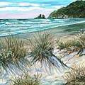 King Tide-whangamata Nz by Val Stokes