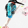 Kingfisher In Late Spring Snow by Debbi Saccomanno Chan