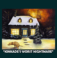 Kinkade's Worst Nightmare With Lettering by Leah Saulnier The Painting Maniac