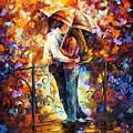 Kiss On The Bridge by Leonid Afremov
