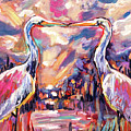 Kissing Egrets Never Forget by Christina Pappion