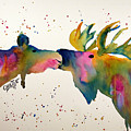 Kissing Moose by Connie Beattie