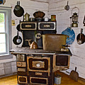 Kitchen Stove In Old Victoria-michigan  by Ruth Hager