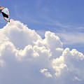 Kite In The Clouds Obx Buxton North Carolina by Mark Holden