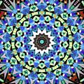 Kite Tiles Mandala by Ethel Mann