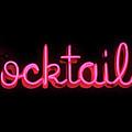 Kitsch Pink Neon Cocktails Sign by Toula Mavridou-Messer