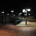 Kittamaqundi Nights - Fountain Stairway by Ronald Reid